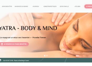 Home page du site Yatra Body&Mind